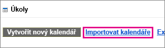 úkoly kalendáře google – import kalendáře