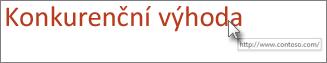 Odebrání podtržení textu hypertextového odkazu