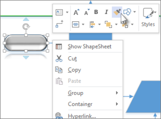Nabídka zobrazená po kliknutí pravým tlačítkem myši, Kopírovat formát