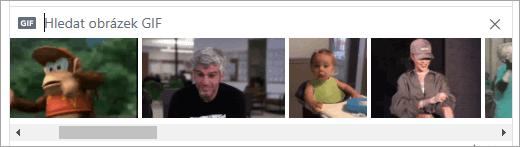 Seznam dostupných GIF