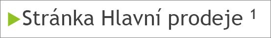 Poznámka pod čarou s horním indexem v textu snímku