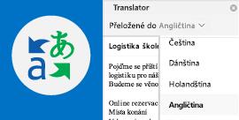Čtení e-mailů Outlooku v preferovaném jazyce