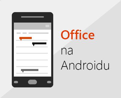 Klikněte, pokud chcete nastavit Office pro Android