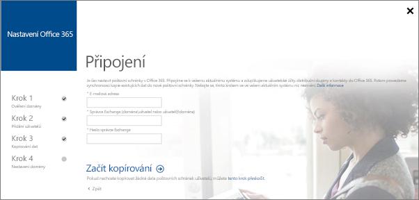 Zadejte informace o účtu pro připojení k vašemu serveru Exchange.