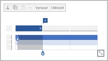 Panel příkazů pro Android