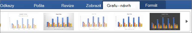 Klikněte na kartu Návrh grafu a potom na některý styl grafu.