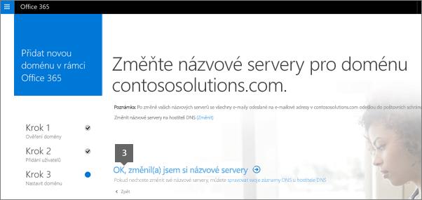 OK, názvové servery jsou změněné.