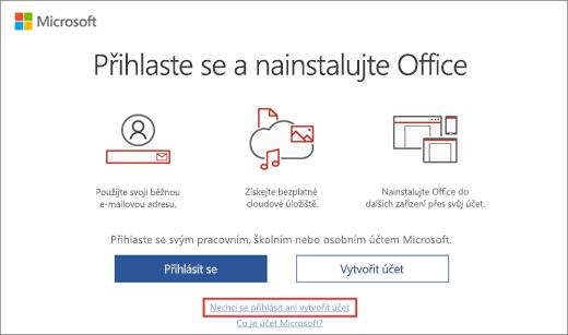 Odkaz, na který můžete kliknout a zadat kód Product Key programu Microsoft HUP
