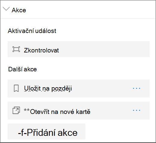Možnosti Akce prohlížeče souborů