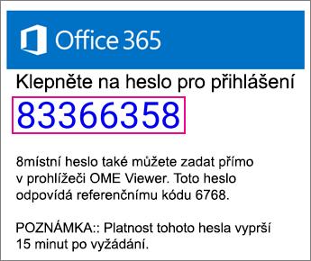 OME Viewer heslo e-mailu