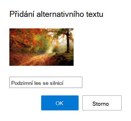 Přidejte alternativní text k obrázkům v Outlooku.