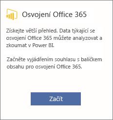 Zvolte začít pracovat s Office 365 zavádění karty