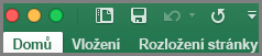 Office 2016 pro Mac: Panel nástrojů Rychlý přístup