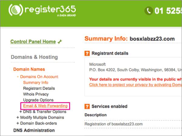 Register365 – doporučených postupů přesměrování-1-3