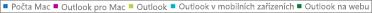 Snímek obrazovky: Seznam e-mailových klientů Kliknutím na e-mailového klienta získáte další data sestavy týkající se tohoto klienta.
