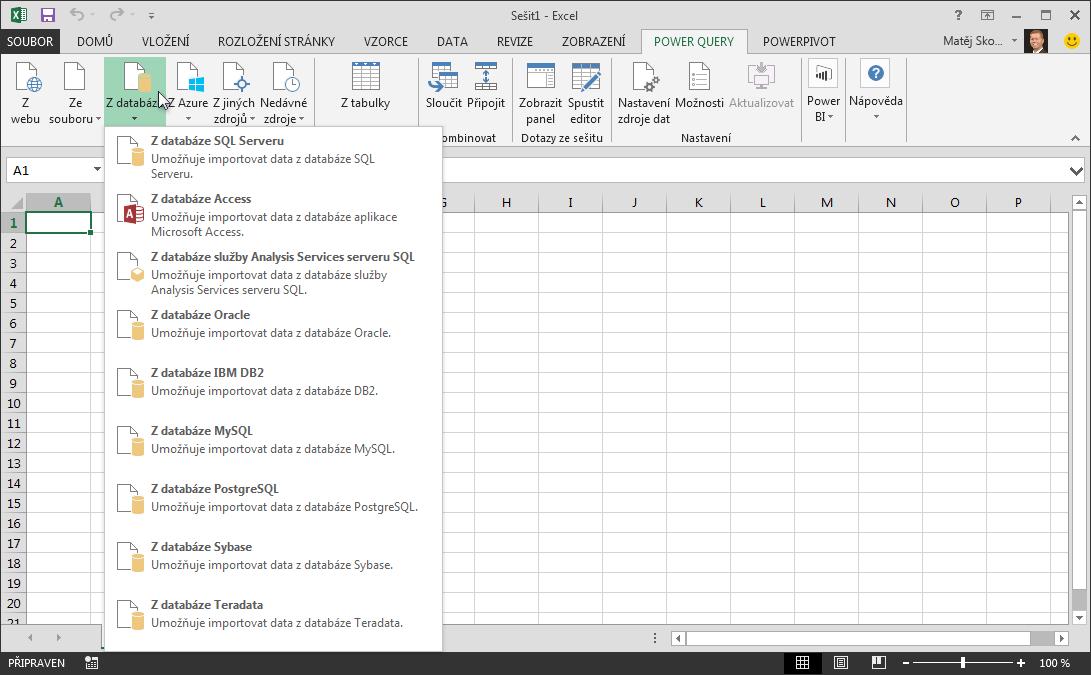 Načtení externích dat zdatabáze