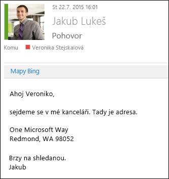 Doplněk Mapy Bing