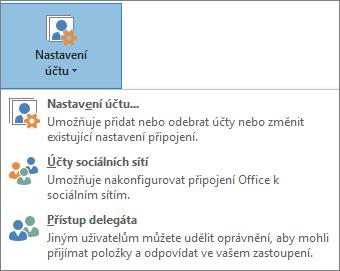 Obrázek přidávání delegáta v Outlooku