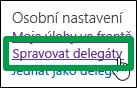 Správa delegátů