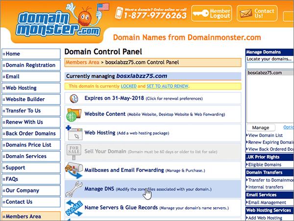 DomainMonster doporučených postupů – konfigurace-1-3