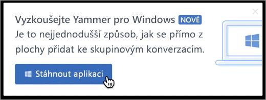 V rámci produktu zasílání zpráv pro Windows
