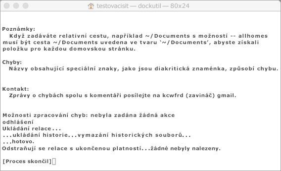 Pomocí klávesy Control a kliknutí spusťte nástroj Dockutil.