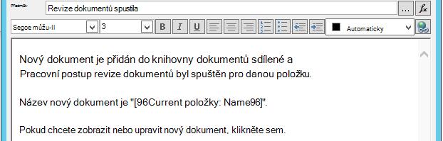 Vložení hypertextového odkazu na aktuální položku 3