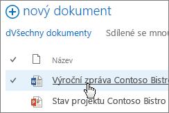 Otevření dokumentu kliknutím