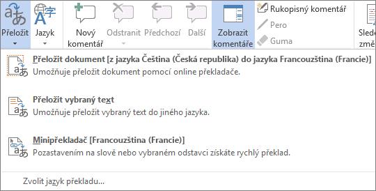 Překlad dokumentu nebo zprávy