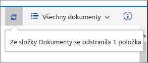 Stavový řádek Odstranit v horní části obrazovky