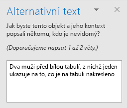 Podokno Alternativní text