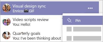 Skupinový chat s názvem Video script reviews (Kontroly skriptů pro video) je ukotven