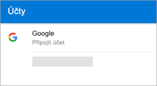 Outlook pro Android automaticky zjistit účtu Gmail.
