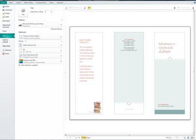 Přehled nastavení tisku v aplikaci Publisher