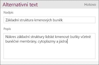 Přidejte alternativní text k obrázku.