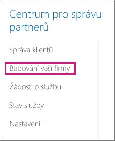 In the Partner admin center select Build your business.