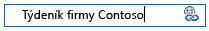 úpravy odkazu na stránku sharepointového wikiwebu