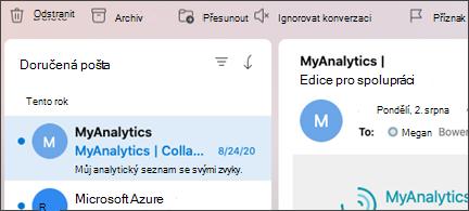 Tlačítko Ignorovat konverzaci v Outlooku pro Mac