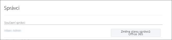 Snímek obrazovky ukazující účet ověřeného správce, který je synchronizovaný jako globální správce v Office 365