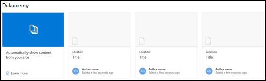 Webová část dokumentů služby SharePoint