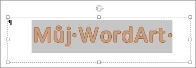 Vybraný WordArt