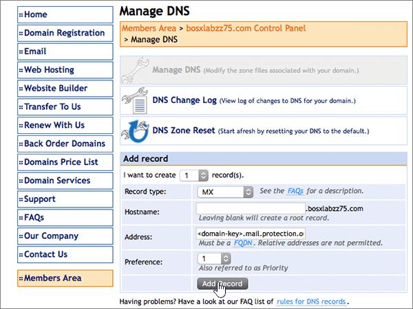 DomainMonster – doporučených postupů – konfigurace 2-2