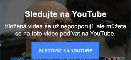 Tato chybová zpráva YouTube vysvětluje, že se už nepodporují vložená videa ve Flashi.