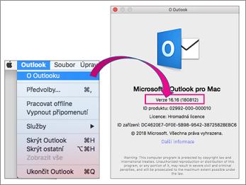 Vyberte Outlook o Outlook najít svoji verzi