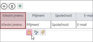 Použití tlačítka pro úpravu návrhu a změna návrhu datového listu
