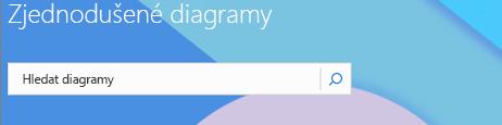 Vyhledávací pole pro diagramy na úvodní stránce