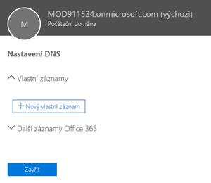 Vybrat nastavení DNS