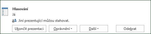 Snímek obrazovky při odebrání stránky hlasování