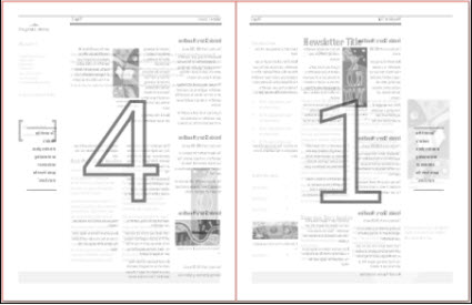 Print preview of a tabloid (11 x 17 inch) newsletter publication.