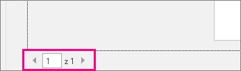 Snímek obrazovky stránky tisk se šipkami pro náhled stránek dokumentu zvýrazněná.